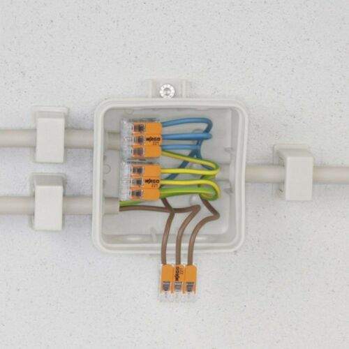 Wago 221-413 LEVER-NUTS 3 Conductor Compact Connectors 50 PK