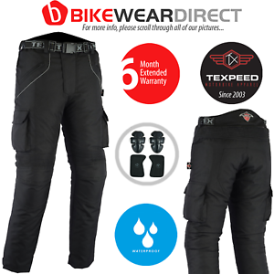 Motorbike-Motorcycle-Trousers-Waterproof-Cordura-With-CE-Armour-Protection-Biker