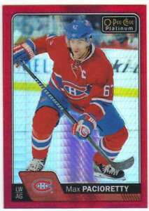 2016-17-O-Pee-Chee-Platinum-Red-Prism-199-Parallel-70-Max-Pacioretty-Canadiens