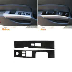 Carbon Fiber Interior Window Lift Switch Panel Cover Trim For Nissan 350Z 06-09