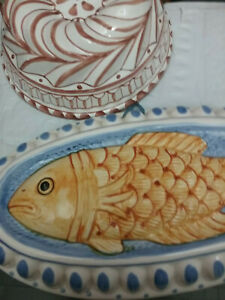 CERAMIC-13-039-039-FISH-SIGMA-JAPAN-MOLD-ABC-BUSSANO-ITALY-JELLO-CAKE-MOLD-8-5-039-039-2PC