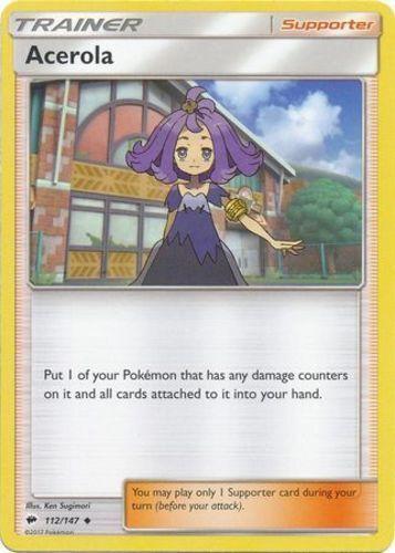 4x Acerola Uncommon NM-Mint Pokemon SM03 Burning Shadows 112//147