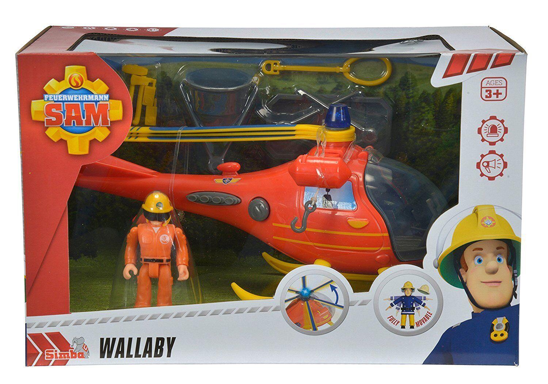 Simba 109251661 Feuerwehrmann Sam Hubschrauber mit Figur NEU OVP,
