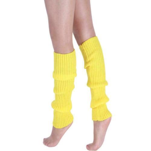 Womens Leg Warmers Disco Winter Knit Dance Party Crochet Socks Costumes Leg D1H4