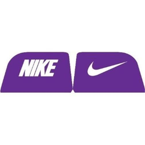 b9524d55 Nike Purple & White Football Helmet Visor Eye Shield Decals 1 Pair ...