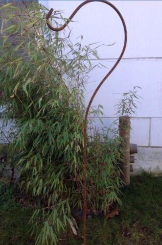 Edelrost Metall-Hakenstecker Futterhaken H155cm für Gartenlaterne Glaslaterne