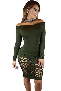 Mini-Abito-aperto-nudo-Trasparente-aderente-Scollo-Ballo-Bodysuit-Club-Dress-M