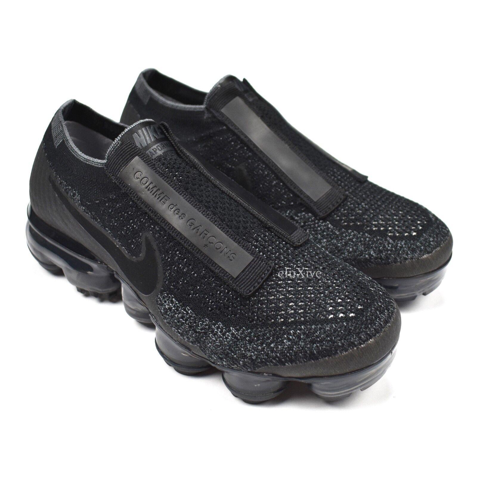 4e9f4d123e5 NWT Nike Nike Nike Comme des Garcons Air Vapormax FK CDG Triple Black  Sneakers 5 AUTHENTIC