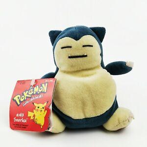 Rare-Vintage-Pokemon-Hasbro-Plush-Beanies-Snorlax-1998-Slowking-2000
