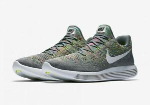 88239a966c8c Men s Nike Lunarepic Low Flyknit 2 - Cool Grey White Volt Blue Glow ...