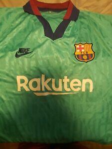 Nike Fc Barcelona 19 20 Third Alt Jersey Shirt Kit Green Xl Ebay