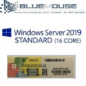 Details about Microsoft Windows Server 2019 (16 Core) Standard Label  Sticker COA invoice- show original title