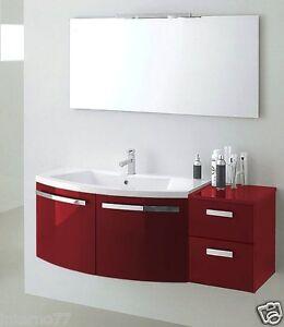 Mobile bagno curvo moderno sospeso vari colori ly06 bis ebay - Mobile bagno curvo ...