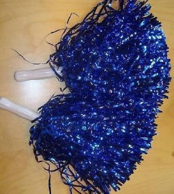 12x Paar Paar Paar Pompon Cheerleader Puschel funkelnd blau TOP 6cf223