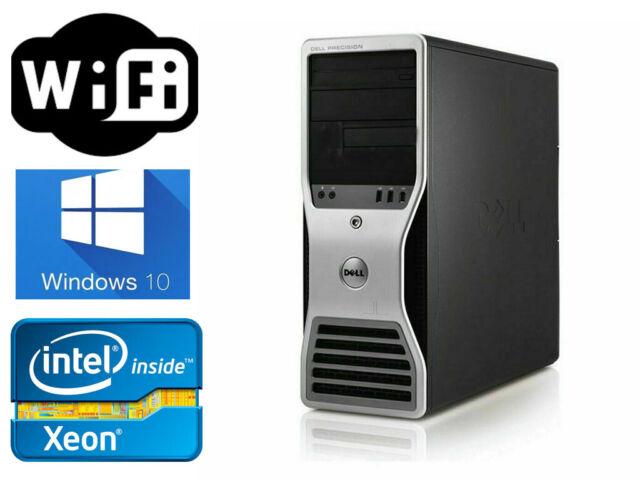 Dell Precision T3500 Xeon 6Core 2 93GHz X5670 12GB RAM 120GB SSD +1TB FX380  WIFI