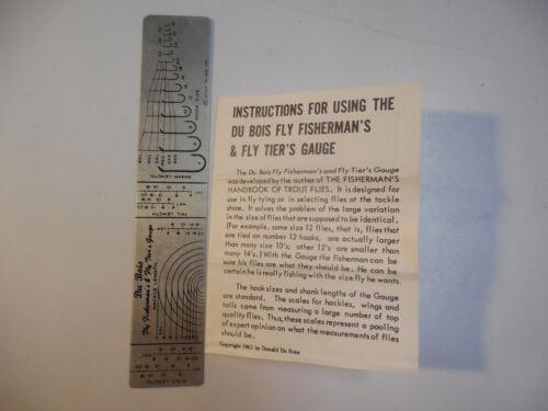RARE VINTAGE 1961 DON DUBOIS HOOK HACKLE GAUGE FLY FISHERMAN FLY TIERS GAUGE