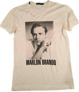 EUC DOLCE & GABBANA D&G men's Marlon Brando vintage v-neck logo tee in gray M/L