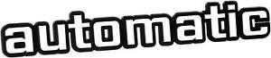 Auto-Relief-3D-Emblem-AUTOMATIC-Schild-19-cm-weiss-HR-Art-14565-selbstklebend