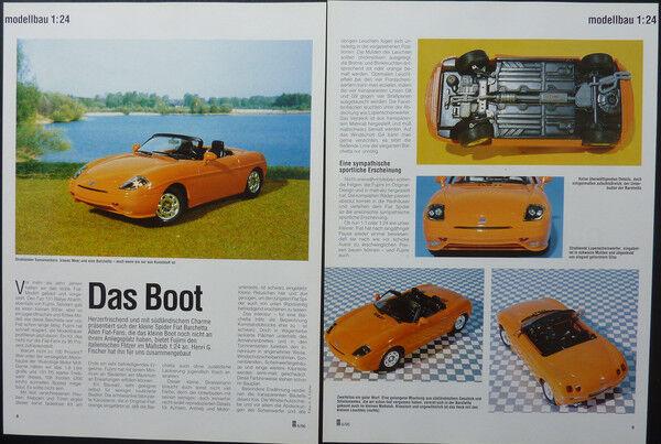 Gentile Fiat Barchetta Spider In 1:24 Di Fujimi... Un Modello Relazione #1996 Stile (In) Alla Moda;