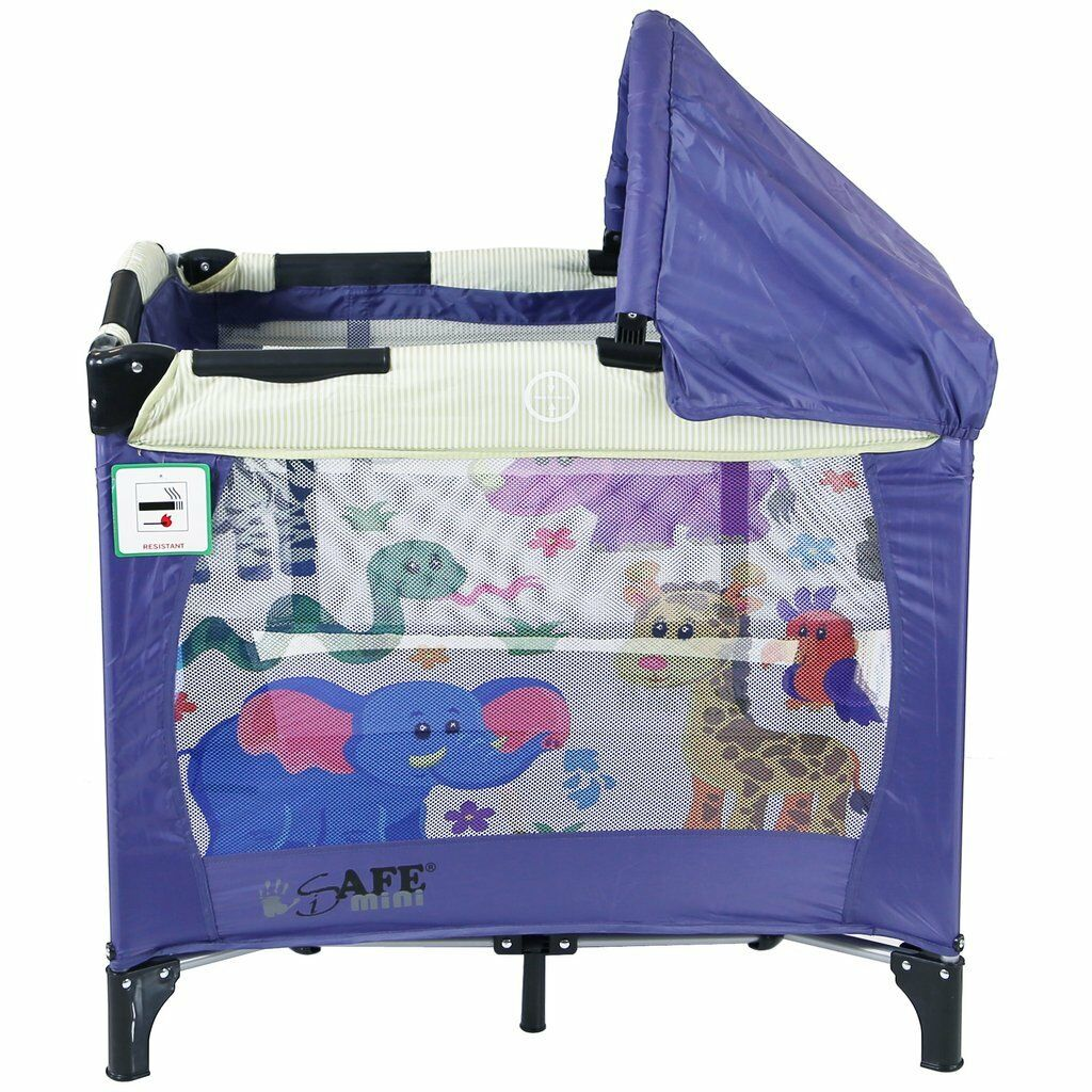 Mattress iSafe Mini Travel Cot With Bassinet and Canopy City Break