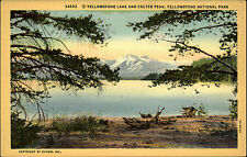 Yellowstone Lake and Colter Peak National Park USA Amerika America AK ~1920/30