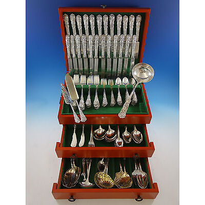 Trajan by Reed and Barton Sterling Silver Flatware Set Service 162 pcs Dinner