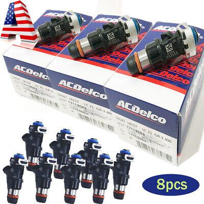 8 Pcs Delphi Fuel Injectors For Chevy GMC Cadillac// 4.8L 5.3L 6.0L 1999-2007 OEM