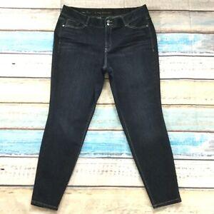 Lane-Bryant-Womens-Jeans-size-20-Dark-Wash-Slim-Skinny-Jeggings-Cotton-Stretch