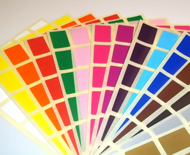 Stock Control - Colour Code Dots Sticky Labels Blank Price Stickers