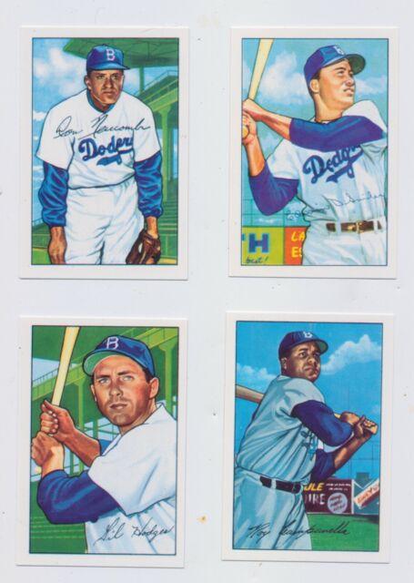 1952 Brooklyn Dodgers Bowman Trading Card Set, Roy Campanella Gil Hodges Don New