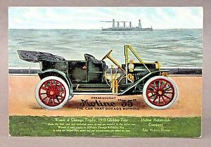 c.1910 MOLINE 35 WINNER OF 1910 GLIDDEN TOUR automobile advertising postcard *