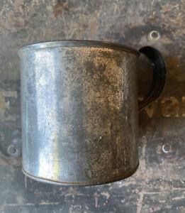 Civil War Period Soldier's Tin Cup, Flat Bottom