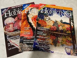 Lot of 3 Rug Hooking Magazines Jan/Feb 2017, Jun/Jul/Aug 2020, Sep/Oct 2020