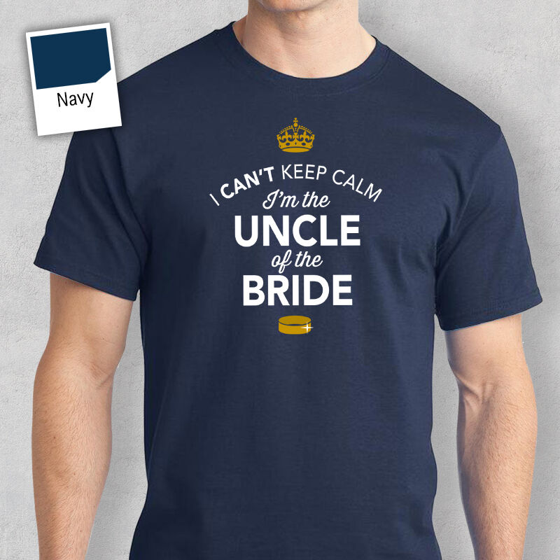 Uncle of Bride Funny Tshirt Wedding Gift Stag Do Night Bachelor Party Keepsake