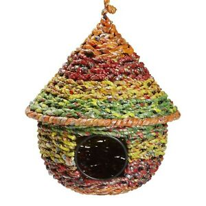 NEW-Sunny-Garden-Birdhouse-Authentic-Fair-Trade-Handcrafted-in-India