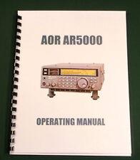 AOR AR5000 Operating Manual - Premium Card Stock Covers & 28lb Paper!