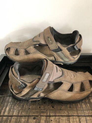 TEVAS Men's Sampago Closed Toe Sandals Sz 9.5 Brow