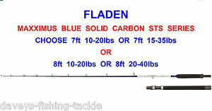 FLADEN NEW MAXXIMUS SHADOW SOLID CARBON BOAT ROD SERIES JIGGING UPTIDE TROLLING