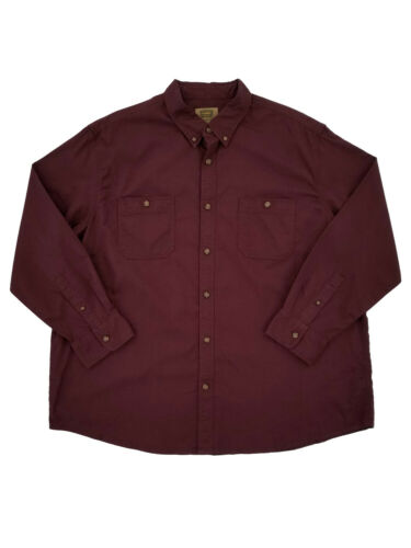 The Foundry Mens Big /& Tall Burgundy Casual Button-Down Long Sleeve Shirt