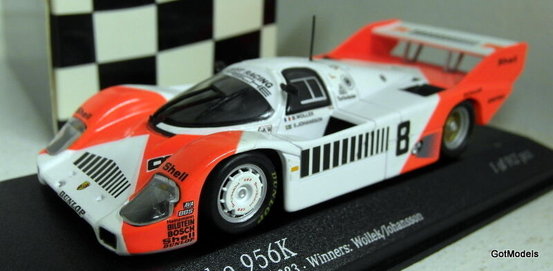 bienvenido a orden Minichamps Escala 1 43 430 836608 Porsche 956K 956K 956K equipo de Joest Mugello 1983 Wollek  barato y de alta calidad