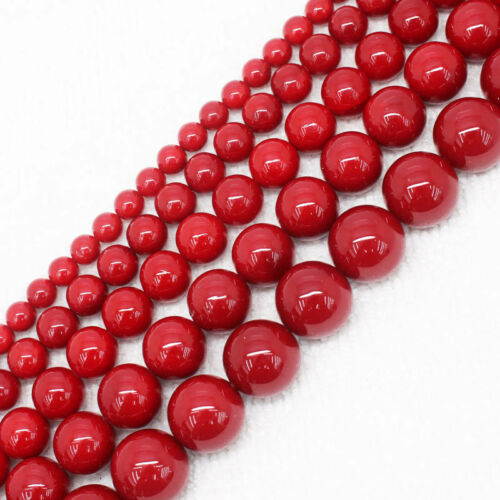 "Charming 6-14mm Beautiful Red Shell Pearl Round Loose Beads 15/"" AAA"