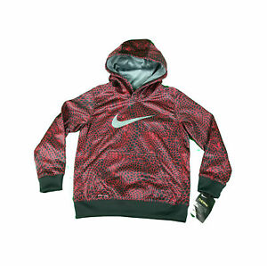 1411eced44f5 NEW Nike Therma Dri-Fit Youth Boy s Size 6 Hoodie Sweatshirt 86B498 ...