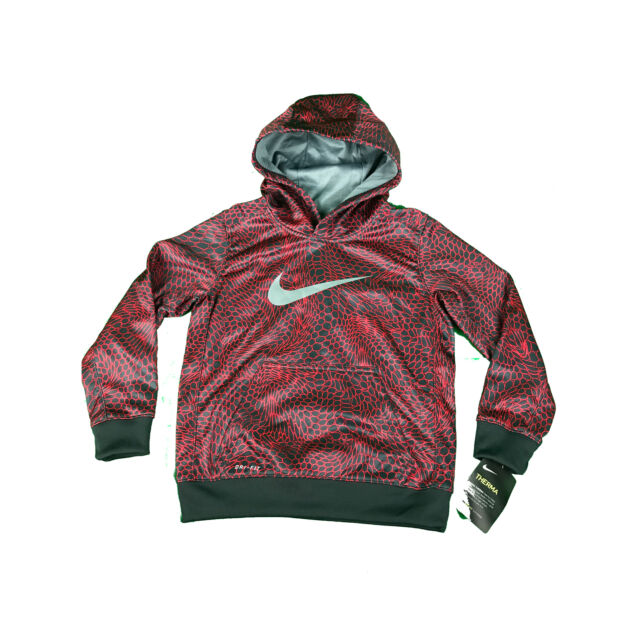 6d017991c938 NEW Nike Therma Dri-Fit Youth Boy s Size 6 Hoodie Sweatshirt 86B498-R24 Red