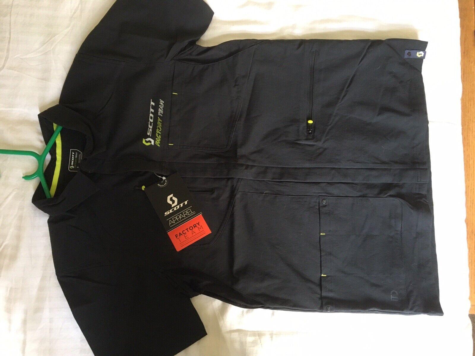 2019 Scott Factory Team Zip Shirt - Brand new