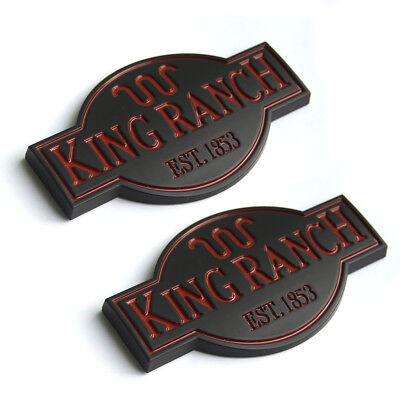 3x OEM King Ranch Badge Emblem Door Tailgate 3D for Ford F250 F350 Black Red N