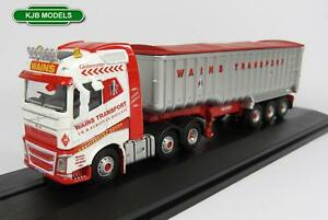 BNIB-OO-GAUGE-OXFORD-DIECAST-1-76-76VOL4004-VOLVO-FH4-TIPPER-WAINS-TRANSPORT