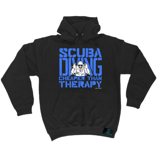 Scuba Diving Cheaper Than Therapy Open Water HOODIE hoody birthday gift dive