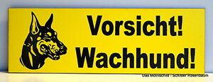 Schnelle Lieferung Vorsicht Wachhund !,türschild,dobermann,gravur,15 X 5 Cm,warnschild,hund Dekoration