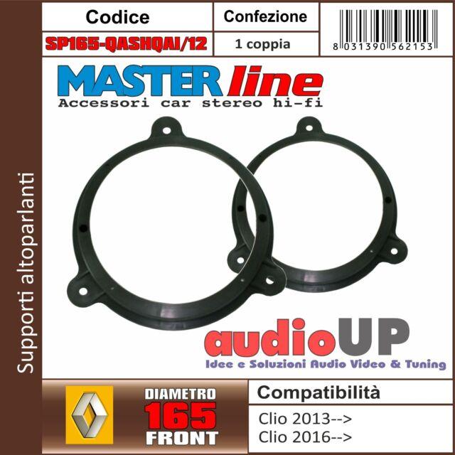 Supporti adattatori altoparlanti 165 mm RENAULT CLIO 2013 in poi. Cp Anteriori