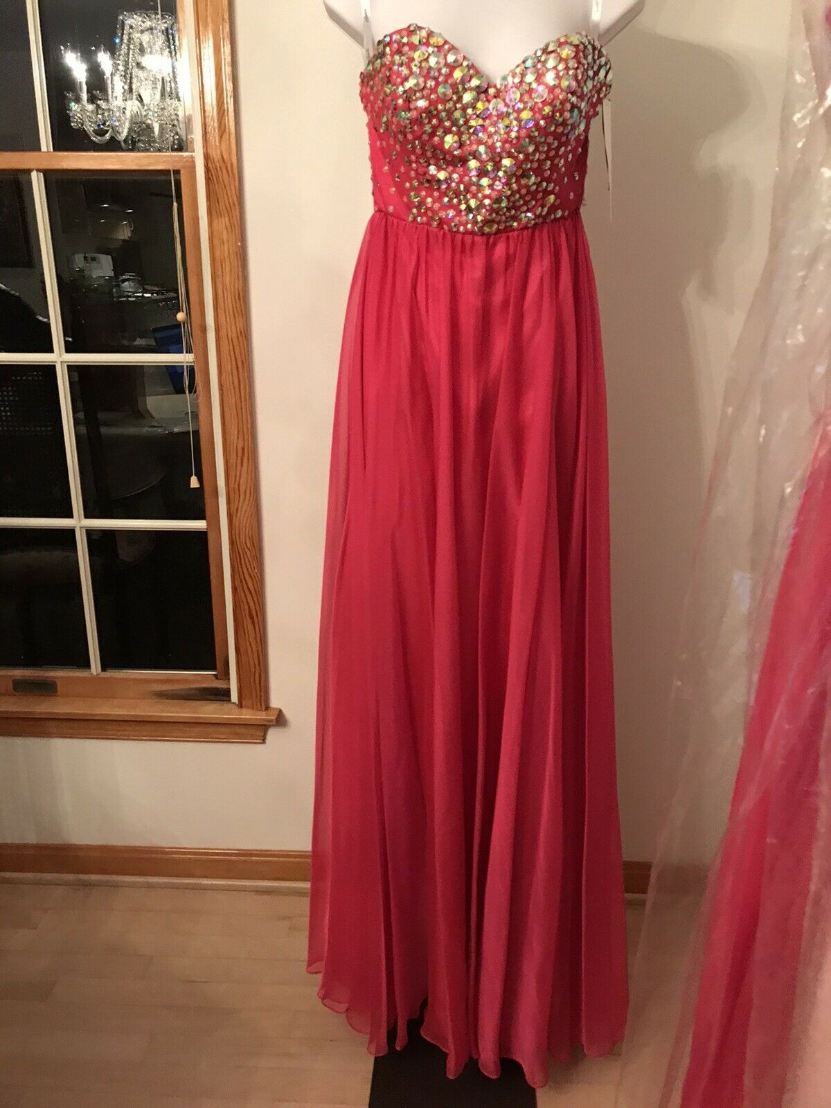 New Sparkle Formal Gown with Beaded Top - Size 6